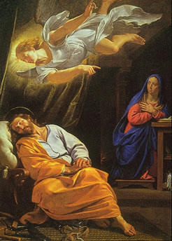 Image result for angel gabriel appeared to joseph
